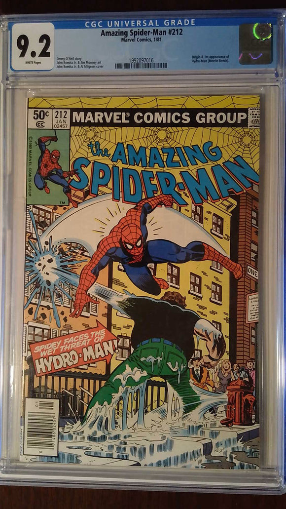 AMAZING SPIDER-MAN #212 CGC 9.2