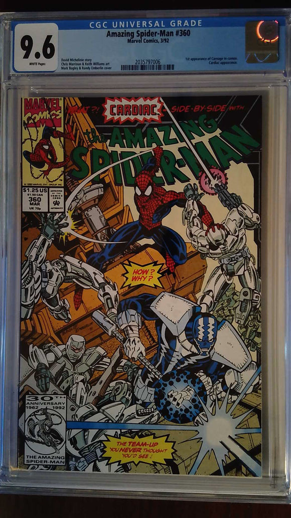 AMAZING SPIDER-MAN #360 CGC 9.6