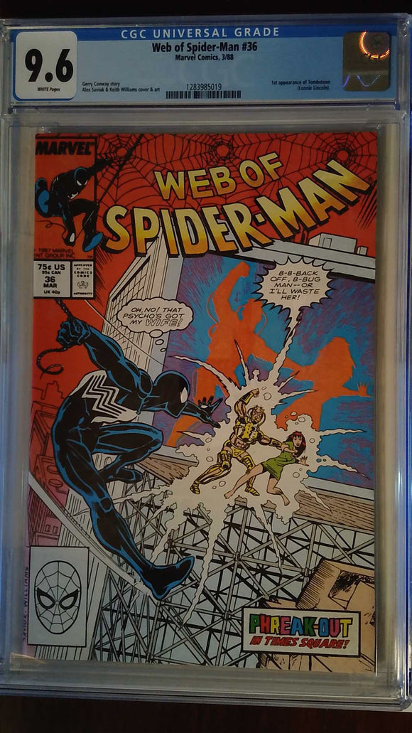 WEB OF SPIDER-MAN (1985) #36 CGC 9.6