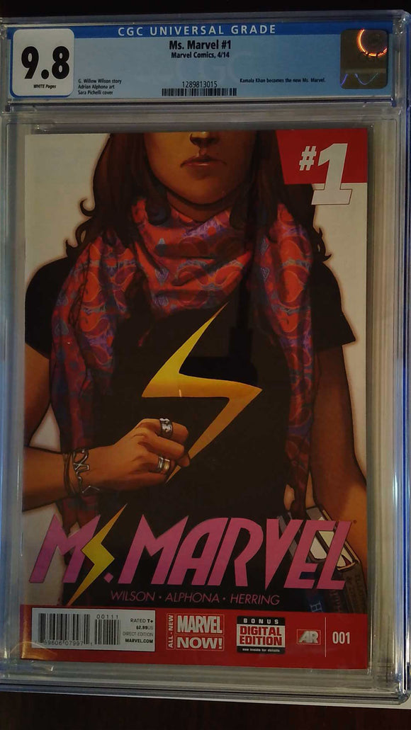 MS MARVEL (2014) #1 CGC 9.8