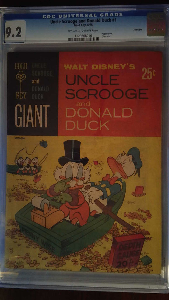 UNCLE SCROOGE AND DONALD DUCK #1 CGC 9.2