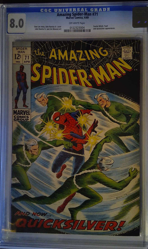 AMAZING SPIDER-MAN #71 CGC 8.0