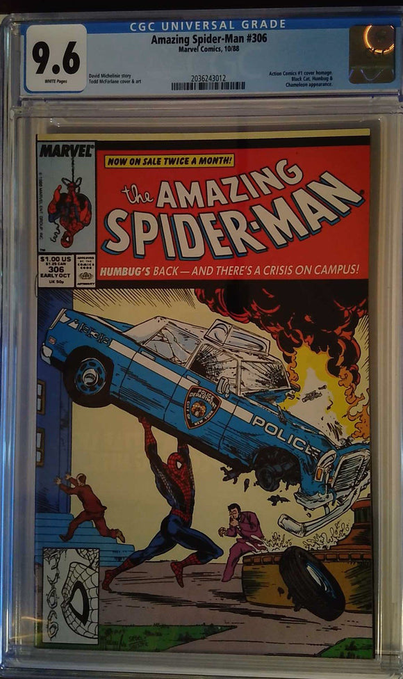 AMAZING SPIDER-MAN #306 CGC 9.6