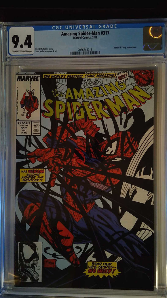 AMAZING SPIDER-MAN #317 CGC 9.4