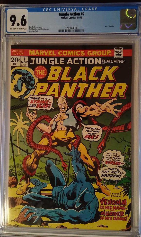 JUNGLE ACTION (1972) #7 CGC 9.6