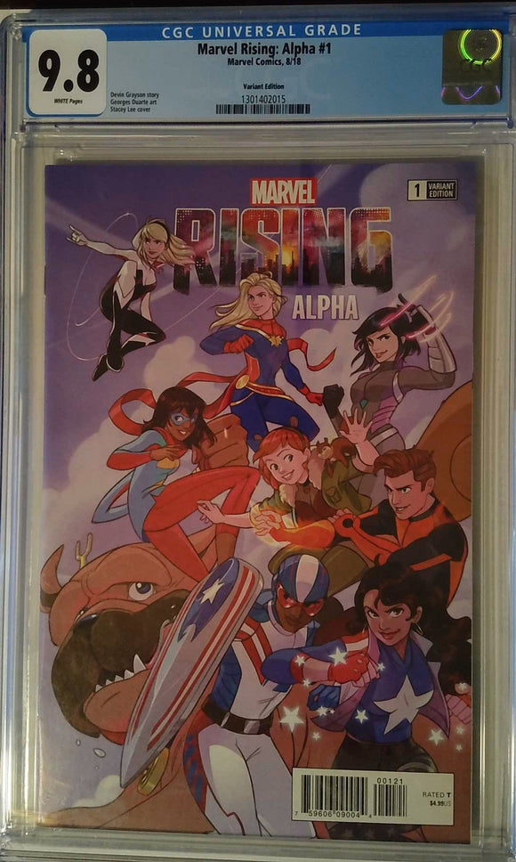 MARVEL RISING ALPHA #1 STACY LEE VAR CGC 9.8
