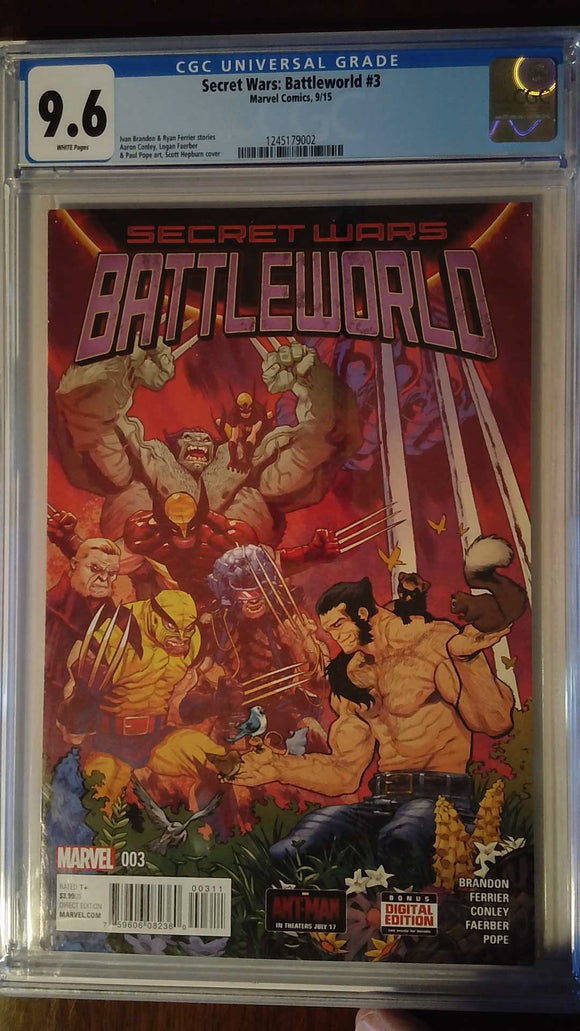SECRET WARS BATTLEWORLD #3 CGC 9.6