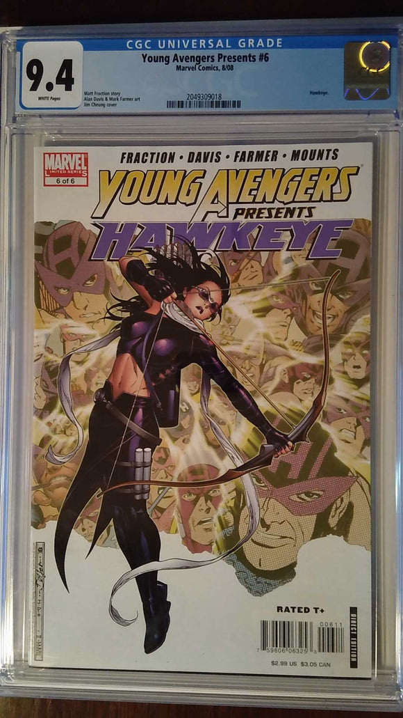 YOUNG AVENGERS PRESENTS #6 CGC 9.4