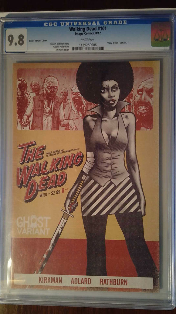 WALKING DEAD #101 GHOST VARIANT CGC 9.8