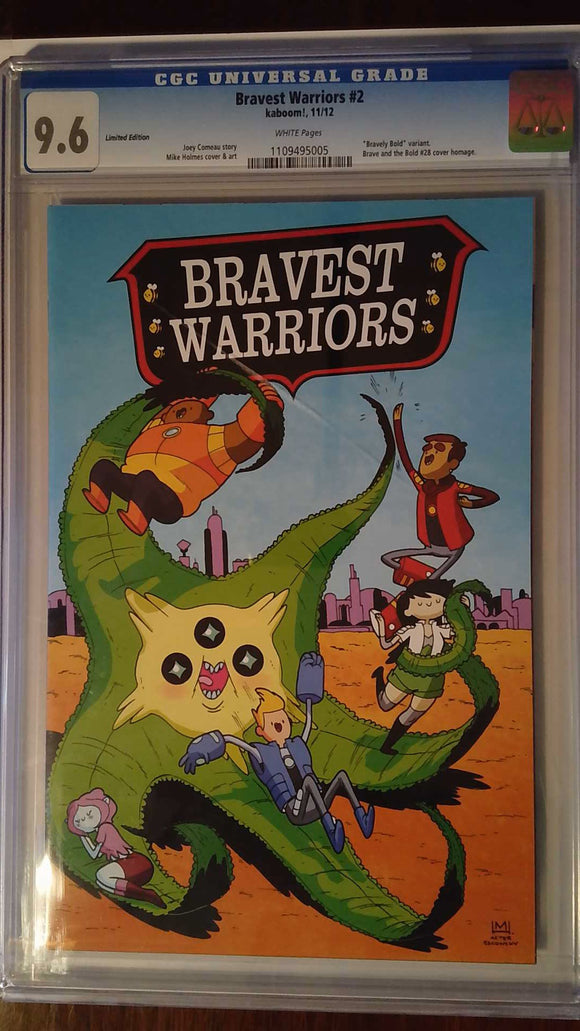 BRAVEST WARRIORS #2 BRAVELY BOLD VARIANT CGC 9.6