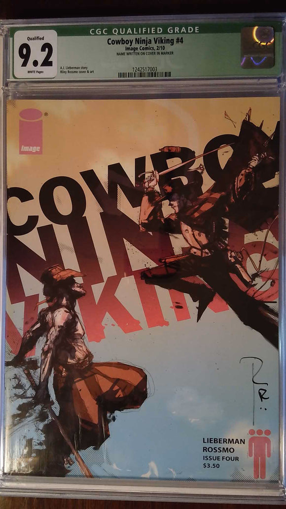 COWBOY NINJA VIKING #4 CGC 9.2 QUALIFIED SGN