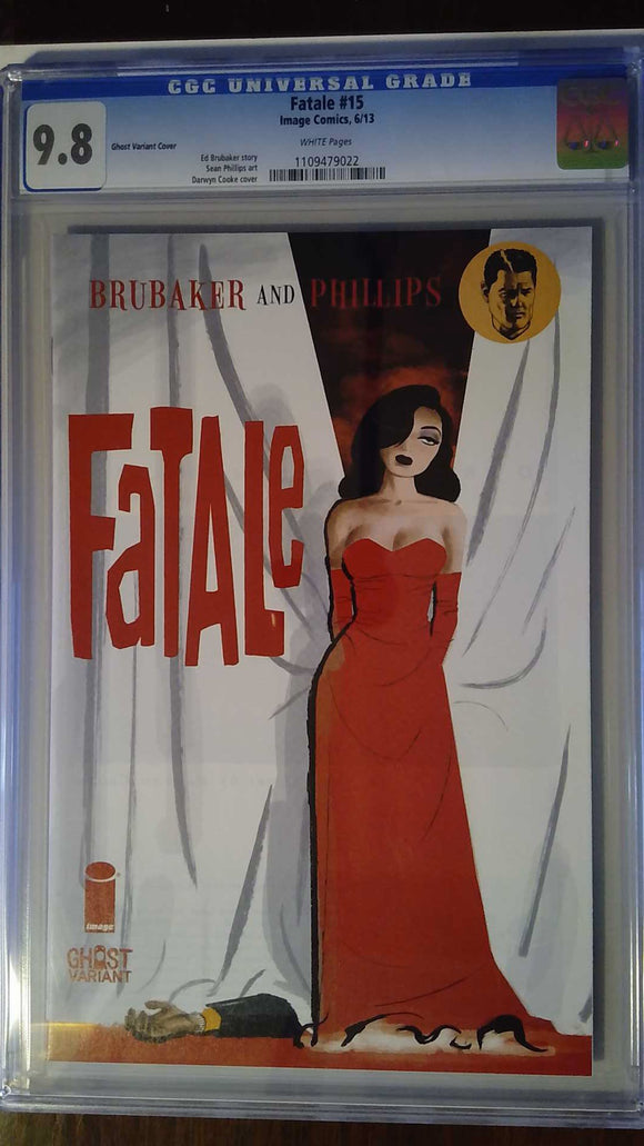FATALE #15  GHOST VAR (MR) CGC 9.8