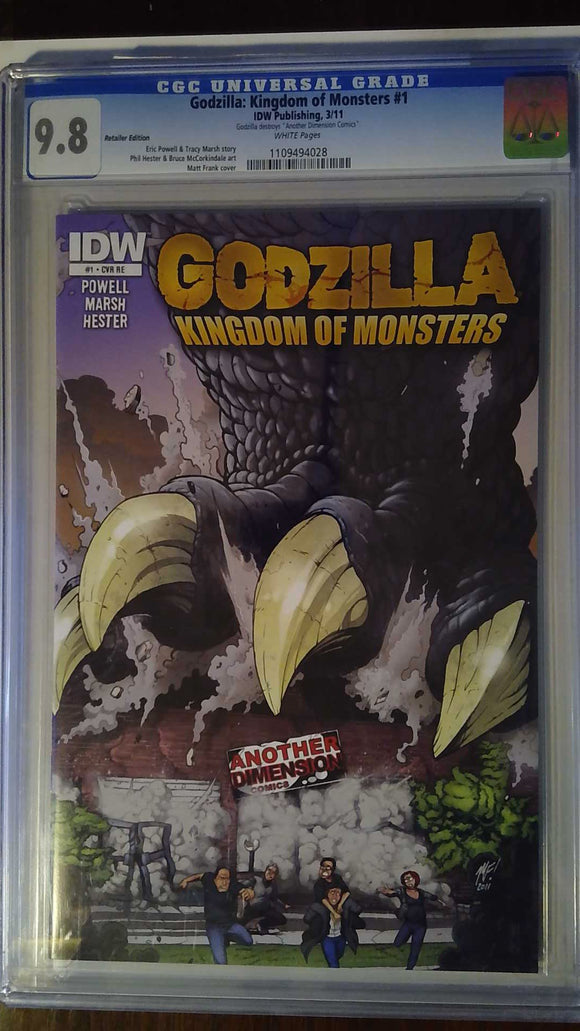 GODZILLA KINGDOM OF MONSTERS #1 ANOTHER DIMENSION VARIANT CGC 9.8