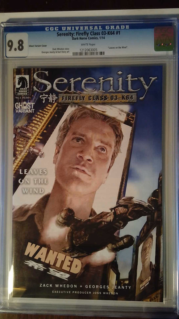 SERENITY LEAVES ON THE WIND #1 (OF 6) GHOST VAR CGC 9.8