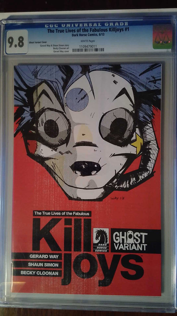 TRUE LIVES O/T FABULOUS KILLJOYS #1 (OF 6) GHOST VAR CGC 9.8