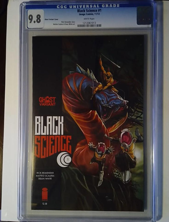 BLACK SCIENCE #1 GHOST VAR (MR) CGC 9.8