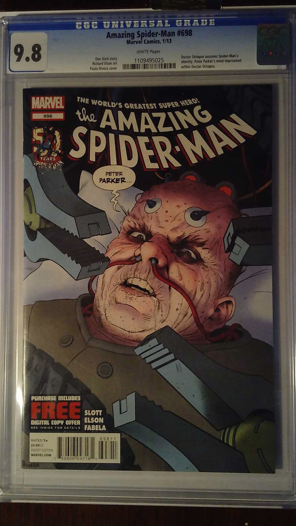 AMAZING SPIDER-MAN #698 CGC 9.8