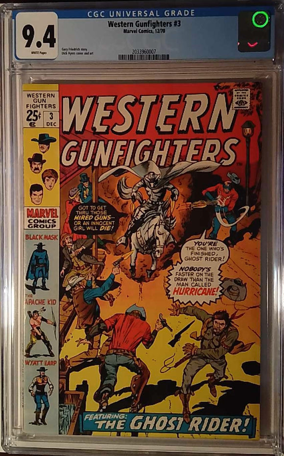WESTERN GUNFIGHTERS (1970) #3 CGC 9.4