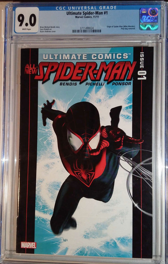 ULTIMATE SPIDER-MAN (2011) #1 CGC 9.0