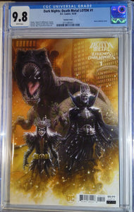 DARK NIGHTS DEATH METAL LEGENDS OF THE DARK KNIGHTS #1 ANDREWS VAR CGC 9.8