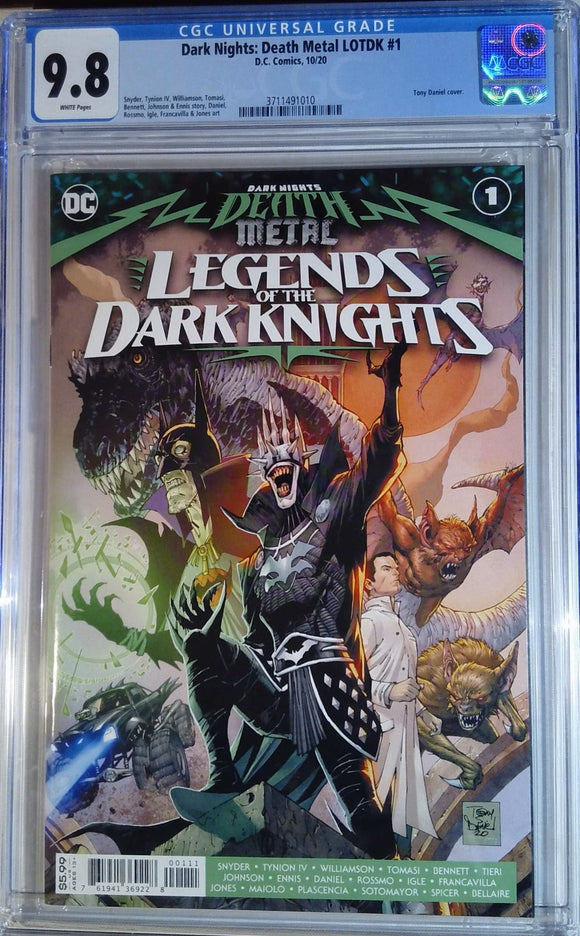 DARK NIGHTS DEATH METAL LEGENDS OF THE DARK KNIGHTS #1 CGC 9.8