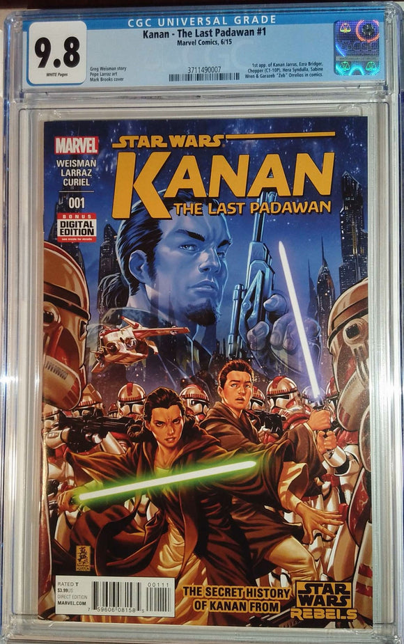 STAR WARS KANAN THE LAST PADAWAN #1 CGC 9.8