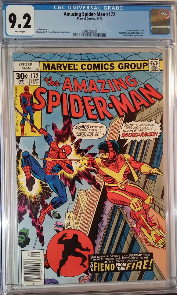 AMAZING SPIDER-MAN #172 CGC 9.2