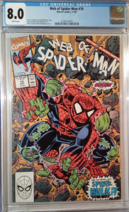 WEB OF SPIDER-MAN (1985) #70 CGC 8.0