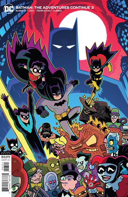 BATMAN THE ADVENTURES CONTINUE #3 DAN HIPP VAR ED