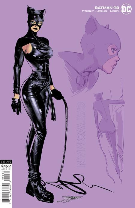 BATMAN #98 INC 1:25 JORGE JIMENEZ CATWOMAN CARD STOCK