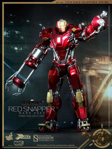HOT TOYS IRON MAN 3 IRON MAN MK XXXV RED SNAPPER 12 IN FIGURE