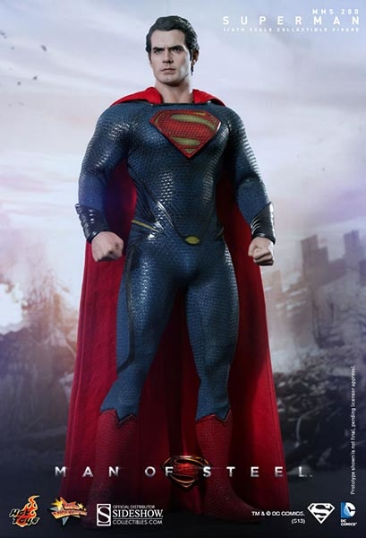HOT TOYS MAN OF STEEL - SUPERMAN 12 IN FIGURE
