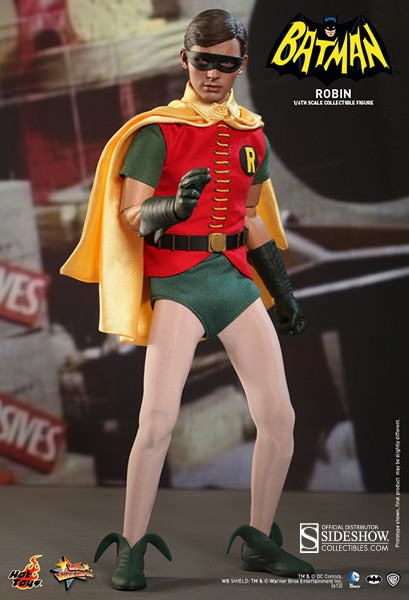 HOT TOYS ROBIN (1960'S TV SERIES) 12 IN FIGURE