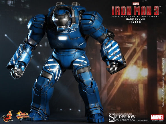 HOT TOYS IRON MAN 3 - IRON MAN MARK XXXVIII - IGOR 12 IN FIGURE