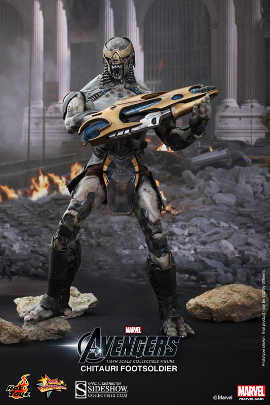 HOT TOYS AVENGERS - CHITAURI FOOTSOLDIER 12 IN FIGURE