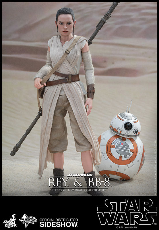 HOT TOYS STAR WARS: THE FORCE AWAKENS - REY AND BB-8 12 IN FIGURE