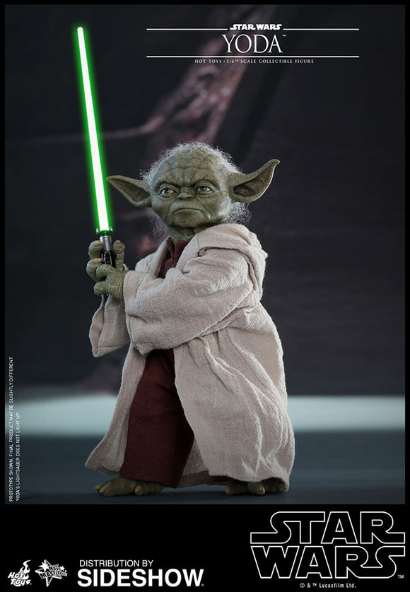 HOT TOYS STAR WARS: EPISODE II - YODA 12 IN FIGURE
