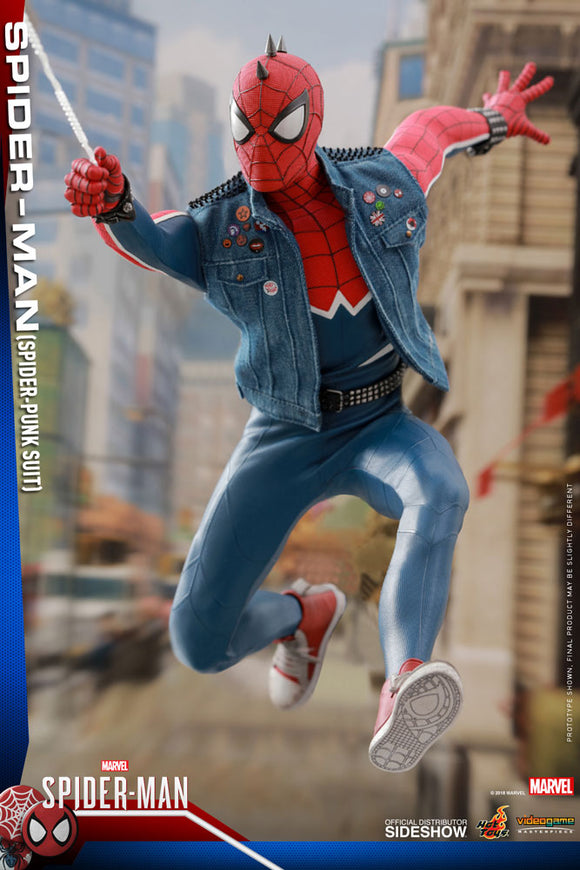 HOT TOYS SPIDER-MAN SPIDEY PUNK SUIT 12 IN FIGURE