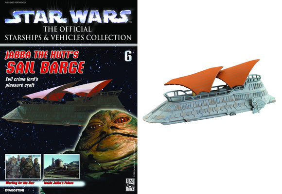 STAR WARS VEHICLES COLL MAG #6 JABBA SAIL BARGE