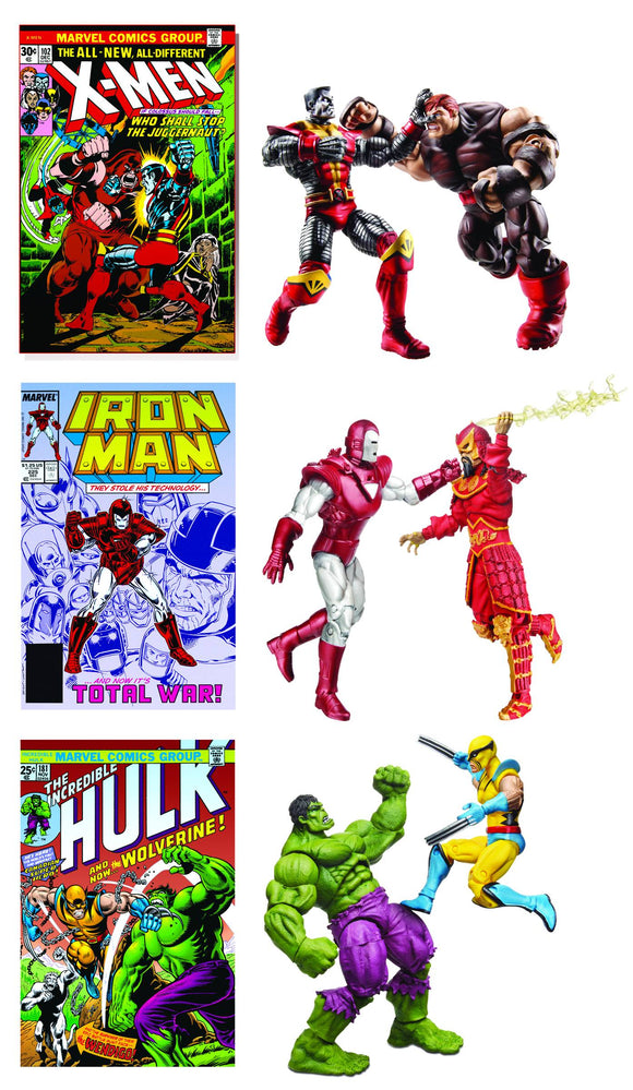 MARVEL COMIC PACKS IRON MAN #225 SILVER CENTURION VS MANDARIN