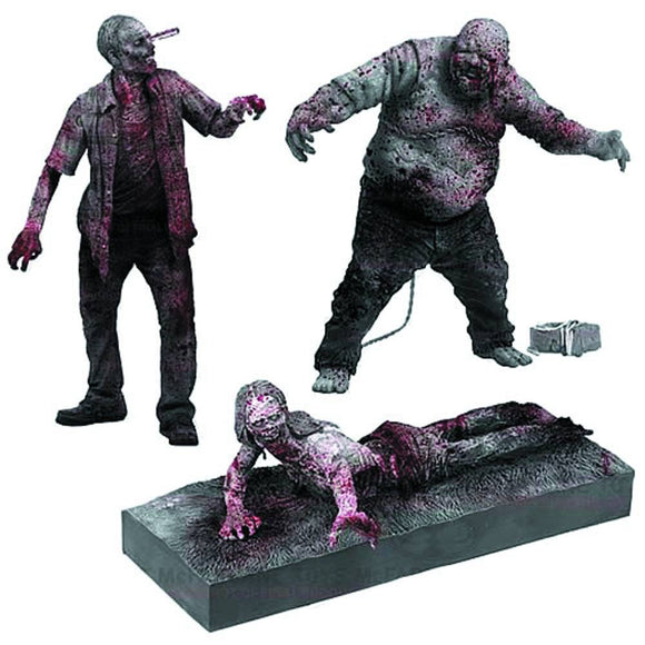 WALKING DEAD TV B&W ZOMBIE AF 3-PK