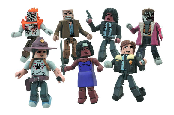 WALKING DEAD MINIMATES SER 6 VARIANT PARTY DRESS MICHONNE/WINTER ZOMBIE