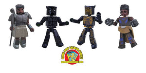 MARVEL BLACK PANTHER MOVIE MINIMATES BOX SET