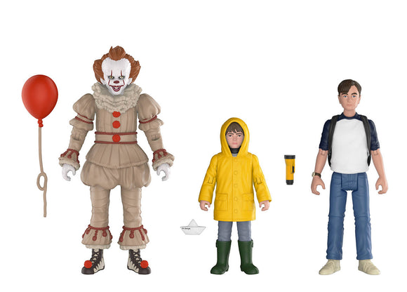 IT ACTION FIGURE 3PK 1 PENNYWISE GEORGIE & BILL