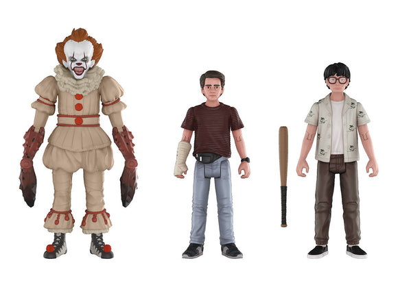 IT ACTION FIGURE 3PK 3 PENNYWISE RICHIE & EDDIE