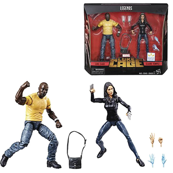 MARVEL LEGENDS LUKE CAGE/CLAIRE TEMPLE AF 2PK