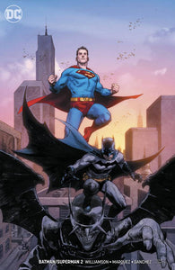 BATMAN SUPERMAN #2 CARD STOCK VAR ED (2019)