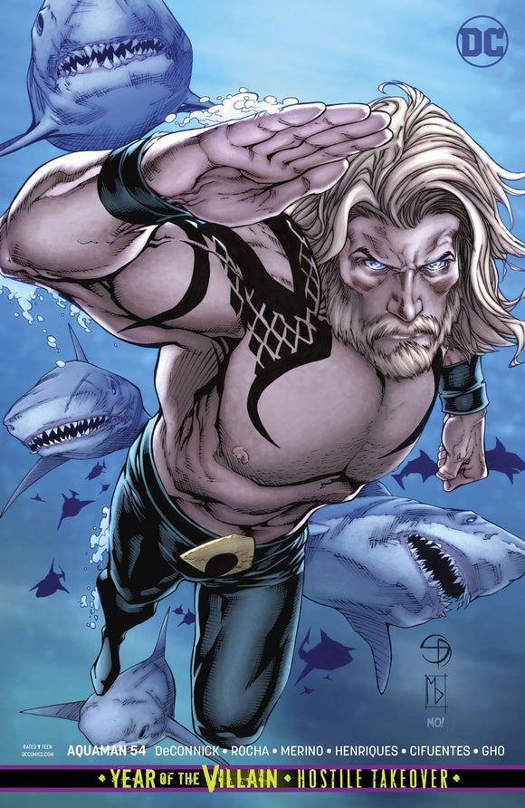 AQUAMAN #54 CARD STOCK VAR ED YOTV (2016)