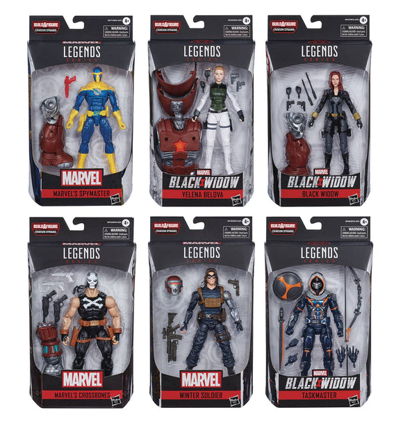 BLACK WIDOW LEGENDS CRIMSON DYNAMO BAF 6IN AF - SET OF ALL 7