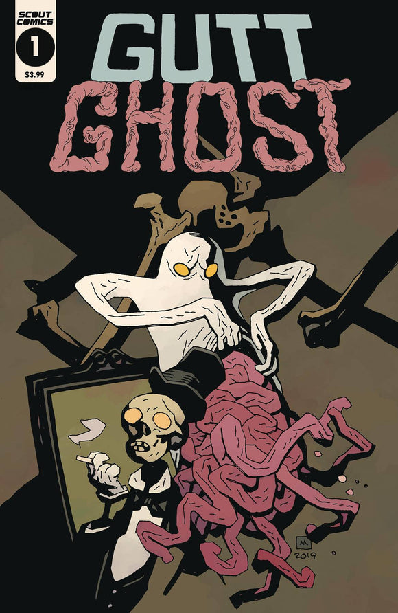 GUTT GHOST TROUBLE W/ SAWBUCK SKELETON SOCIETY MIGNOLA